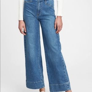 Gap denim wide leg sky high jeans 29/8T